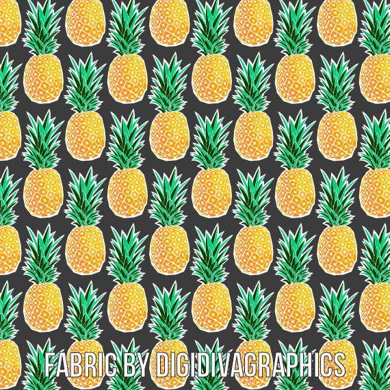 pineapplefabricblackandyellow