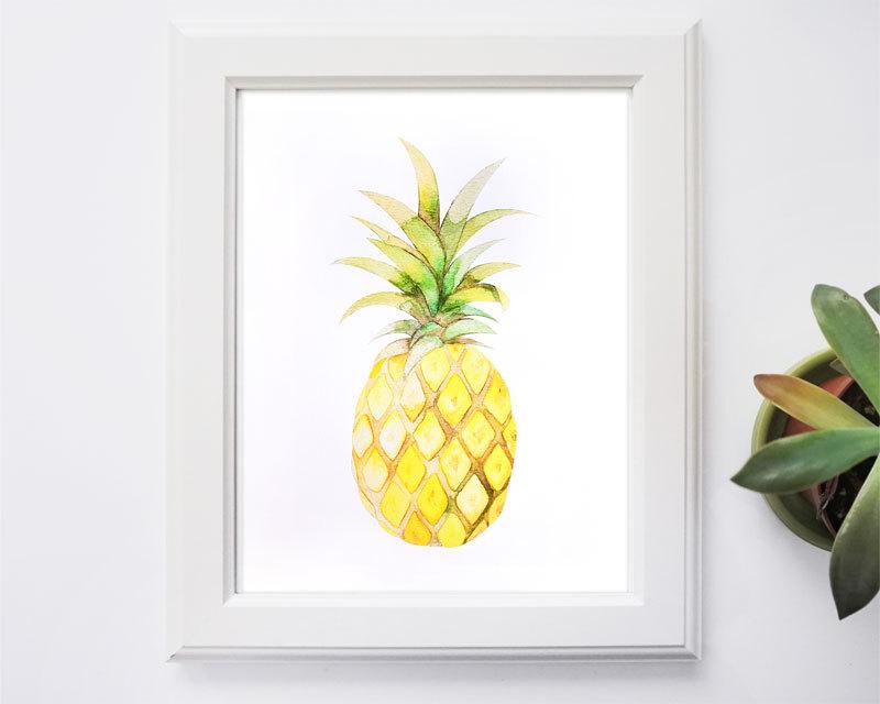 pineapplewatercolourprint0002