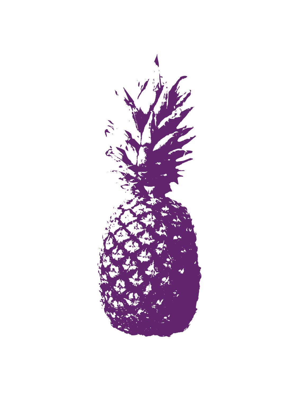 purplepineappleartprint