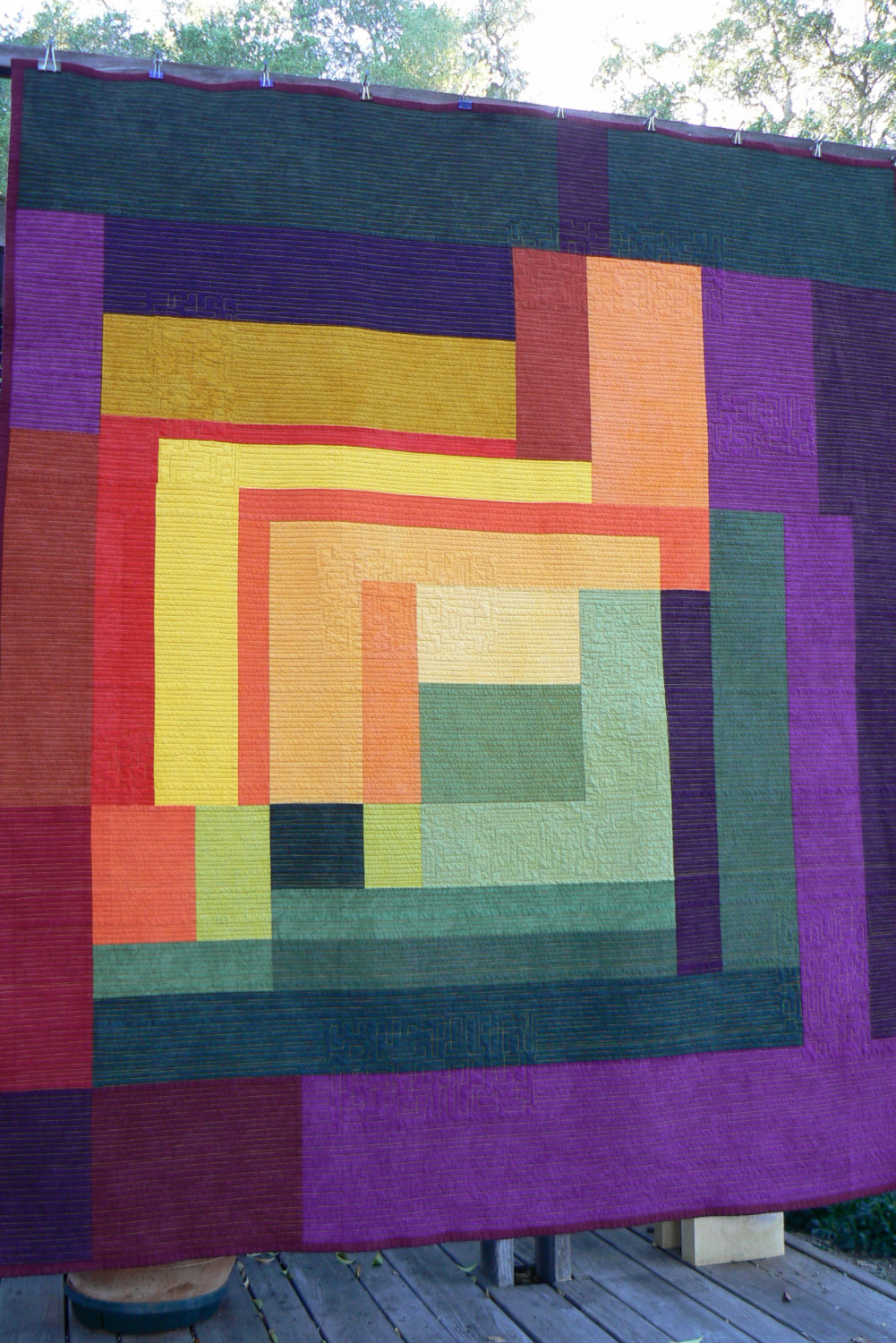 Color Pop Quilt from Etsy shop Quilts By Design