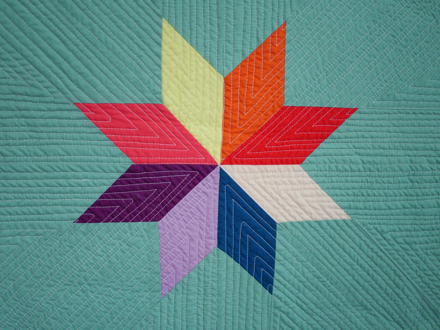 Minimalist Lone Star from Etsy shop SotoSewn