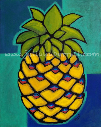 pineappleacrylicpainting